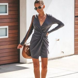 VICI Ribbed Twist Front Dress